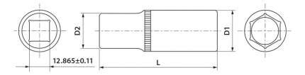 Торцевая головка THORVIK FS11214