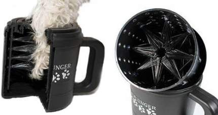 Лапомойка для собак Paw Plunger PAW355 Большая, пластик, силикон, черный