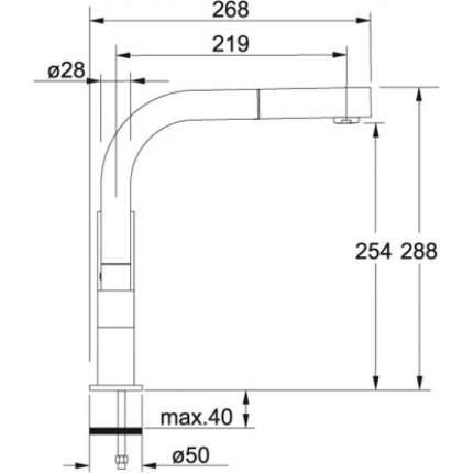 Смеситель для кухонной мойки Franke BAT 020 115.0016.322 хром