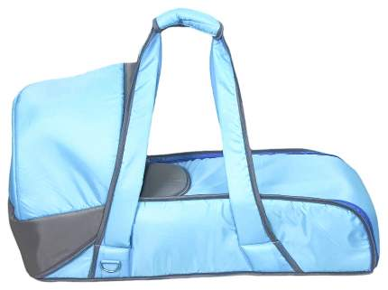 Переносная люлька-кокон Фея 0005605-5 Серо-голубая