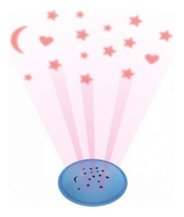 Ночник детский Baby Mix Мишка с музыкой голубой