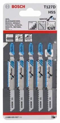 Набор пилок для лобзика Bosch T 127 D, HSS 2608631017