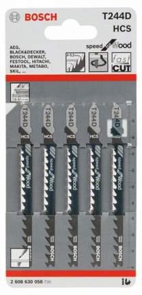 Набор пилок для лобзика Bosch T 244 D,HCS 2608630058