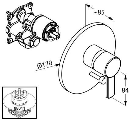 Смеситель для встраиваемой системы Kludi Zenta 386500575 хром