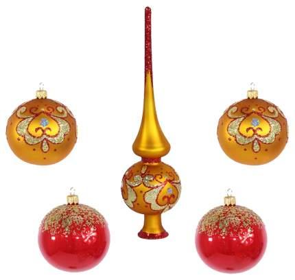 Набор шаров с верхушкой Аврора Елочка С 1636