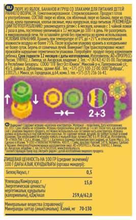 Пюре фруктовое ФрутоНяня Фрукты и злаки с 6 мес 130 г