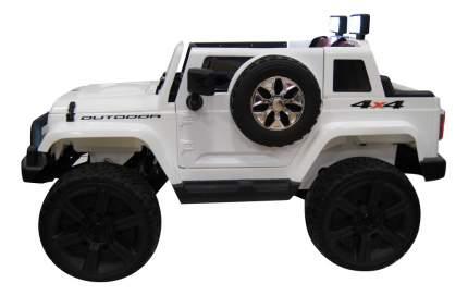 Электромобиль Jeep Wrangler белый RIVERTOYS