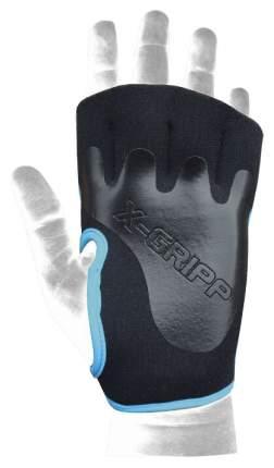 Перчатки для тяжелой атлетики и фитнеса Chiba Lady Motivation Glove, черные/голубые, S