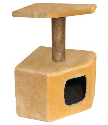Комплекс для кошек Гамма угловой однотонный 31х31х58см 20902011