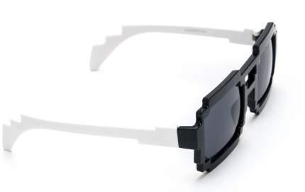 Пиксельные очки белые дужки