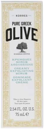 Скраб для лица Korres Pure Greek Olive Creamy Scrub 75 мл