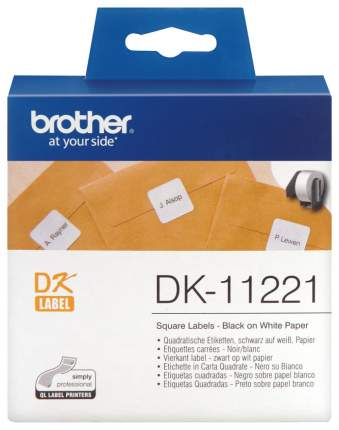 Лента для печати наклеек Brother DK-11221 Черный