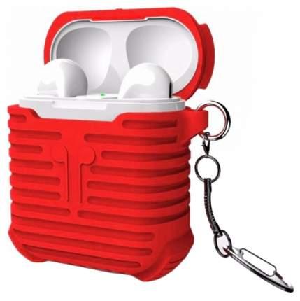 Силиконовый чехол для AirPods i-Smile Silicone Protective Case Красный