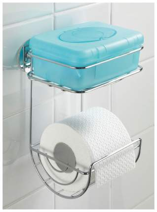 Держатель для туалетной бумаги Wenko Turbo-Loc 04707 с полочкой Хром