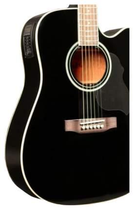Электроакустическая гитара шестиструнная CRAFTER ED-75 CEQ BK+ Чехол