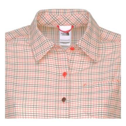 Рубашка The North Face Short Sleeve Abbey Falls Shirt, miami orange plaid, S INT