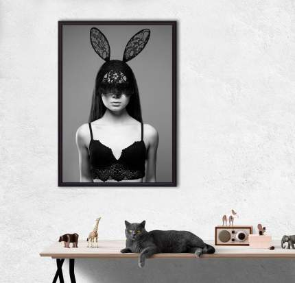 Постер в рамке Девушка в маске с ушками 30 х 40 см Дом Корлеоне