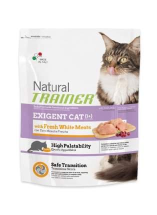 Сухой корм для кошек TRAINER Natural Exigent Cat, для привередливых, белое мясо, 0,3кг