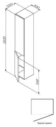 Шкаф-пенал Am.Pm Gem R белый глянец, подвесной