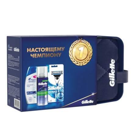 Набор Gillette Масh 3 Start Бритва+кас+пена для чувств.кожи+шампунь Head&Shoulders
