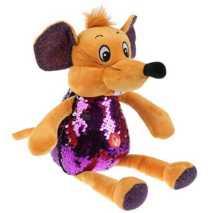 """Игрушка мягкая """"Мышка фиолетовая, блестящая"""", 21 см"""