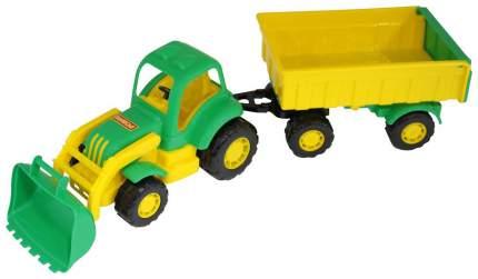 Трактор Полесье Крепыш №1 с прицепом и ковшом 51,3х13х14