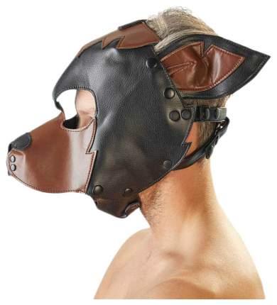Маска-шлем Orion Fetish на голову собака черно-коричневый