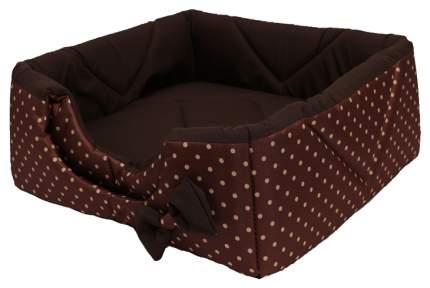 Домик для кошек и собак Lion Кубик, коричневый, бежевый, 40x40x40см