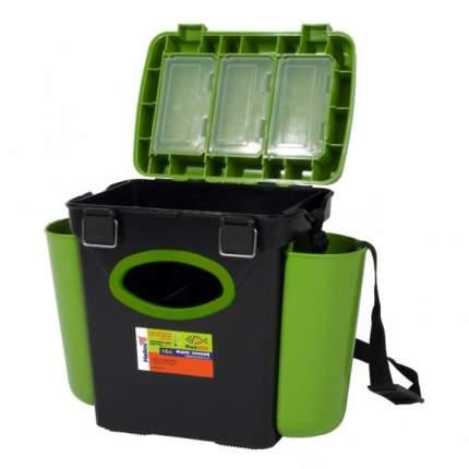 Рыболовный ящик Тонар Helios FishBox 10 л односекционный черно-зеленый