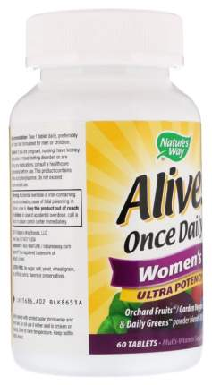 Витаминный комплекс Nature's Way Alive! Once Daily Women's таблетки 60 шт.
