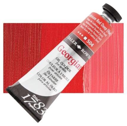 Масляная краска Daler Rowney Georgian кадмий красный темный имитация 75 мл