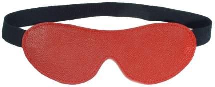 Маска BDSM Арсенал на глаза кожаная красный