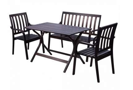 Садовая скамейка Mebwill Берн MBW_23051 коричневый