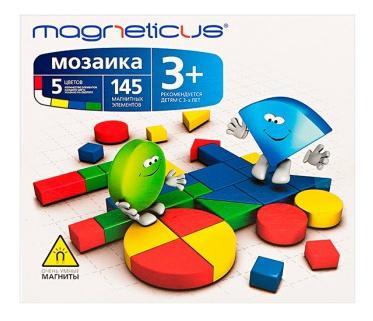 Мозаика Magneticus 3+, 5 цветов, Листок с примерами.