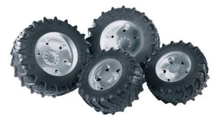 Шины Bruder для сдвоенных колёс с серебристыми дисками 4 шт. 12,5 см