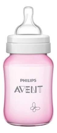 Детская бутылочка Philips Avent Classic+ SCF573/13 для девочек, 260 мл, 1 шт., 1 мес.+,
