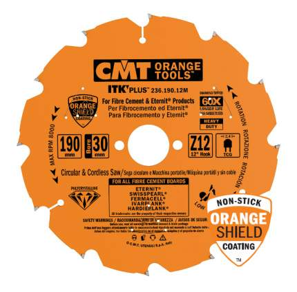 Диск по дереву для дисковых пил CMT 236.190.12M