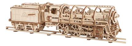 Сборная модель конструктор UGEARS Локомотив с тендером