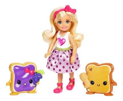Кукла Barbie Челси и сладости с молоком и печенькой FDJ09 FDJ11