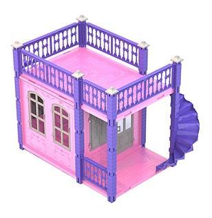 Домик для кукол замок принцессы 1 этаж розов