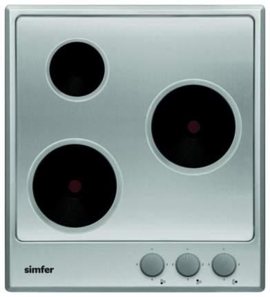 Встраиваемая варочная панель электрическая Simfer H45E03M011 Silver
