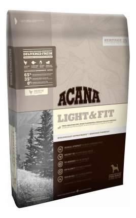 Сухой корм для собак ACANA Heritage Light&Fit, при лишнем весе, цыпленок, индейка, 11,4кг