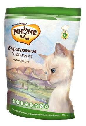 Сухой корм для кошек Мнямс Блюда высокой кухни,Бефстроганов по-тасмански(с страусом),0,4кг