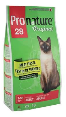Сухой корм для кошек Pronature Original Мясной праздник, цыпленок, лосось, ягненок, 0,35кг