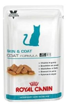 Влажный корм для кошек ROYAL CANIN Vet Diet Skin & Coat Formula, мясо, 100г