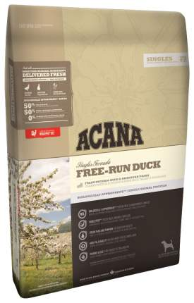 Сухой корм для собак ACANA Singles Free-Run Duck, утка, 11,4кг