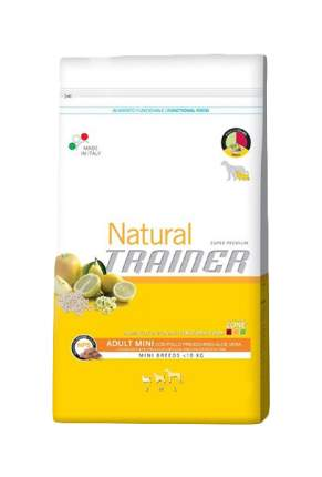 Сухой корм для собак TRAINER Natural Adult Mini, для мелких пород, курица, рис, 2кг
