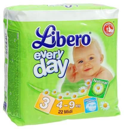 Подгузники Libero Everyday 3 (4-9 кг), 22 шт.