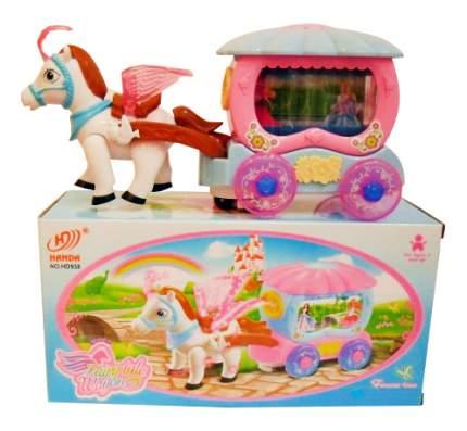 Интерактивная игрушка Shantou Gepai Лошадка с каретой