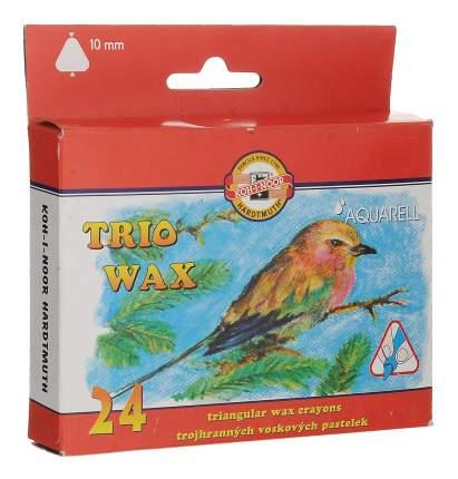 Пастель восковая Koh-I-Noor Trio wax 24 цвета